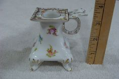 A C Saxonia Porcelain Chamberstick Candle Holder | eBay