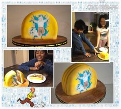 © Mary Das, Cake Thérapie Tintin cake for my darling boy:). His favourite character. Happy to be 12:)
