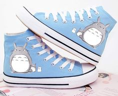 Totoro hand-painted high cut sneaker shoe
