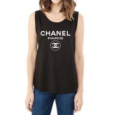 7a5076e0284dcc Chanel Paris Muscle T-Shirt Cute Workout Tanks
