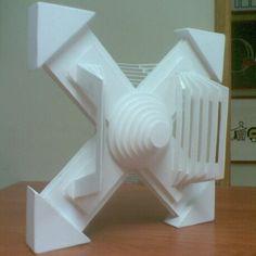 Radiación. Levante en PVC (policloruro de vinilo). Sección de la Radiación con variaciones a la original en 3D.