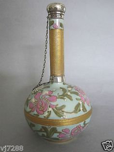 Royal Worcester Hand Painted Sterling Silver Perfume Bottle C1887 | eBay