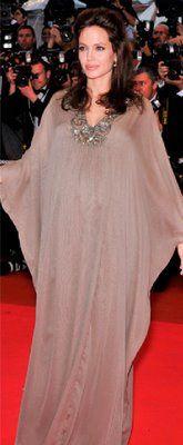 Angelina Jolie wearing a butterfly abaya-great for maternity wear