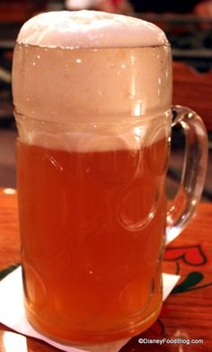 Liter of beer! So huge! At Biergarten in Epcot. DisneyFoodBlog.com