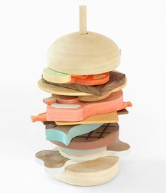 Slow Wood play food prototype by Studio Fludd