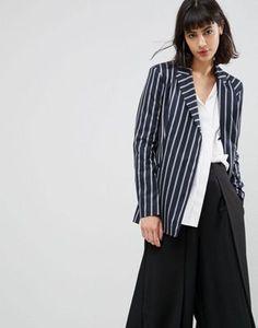 ASOS Tailored Deconstructed Blazer in Pinstripe