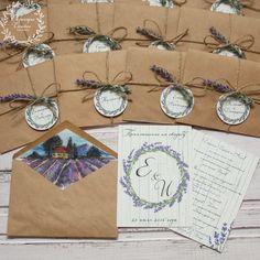 Приглашение в крафт-конверте, Прованс, бледно-сиреневый, сиреневый, лаванда, прованс, прованский стиль, provence, lavender, invitation, wedding, stationery, приглашения, свадьба