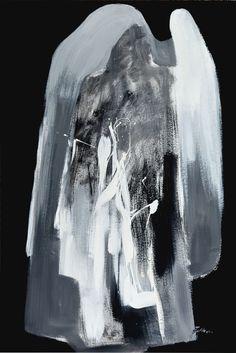 Stano Šalko - Hlava, akryl na kartóne, 120 x 80 cm, 1988