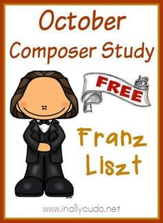 Adding music to your homeschool day doesn't have to be difficult. Use this simple Composer Unit Study on Franz Liszt to study just one composer in October! Music Games, Music Education Activities, History Education, Teaching History, Music School, Music Composers, Teaching Music, Teaching Tools, Teaching Resources