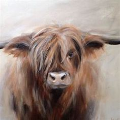 annabelle lanfermeijer art - - Yahoo Image Search Results Highland Cow Art, Highland Cattle, Animal Paintings, Animal Drawings, Art Drawings, Art Actuel, Art Sur Toile, Cow Pictures, Cow Painting