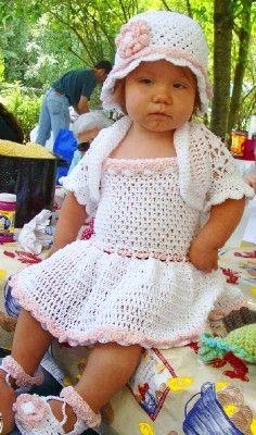 Toddler Sundress Set Crochet Pattern PDF 451 by SandysCapeCodOrig on Etsy https://www.etsy.com/listing/53169151/toddler-sundress-set-crochet-pattern-pdf