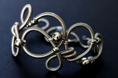 Hand Formed Sterling Silver Coiled Wire Bracelet - On Artfire