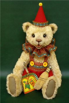 Otto the Bear dressed as a Clown by Michelle Lamb
