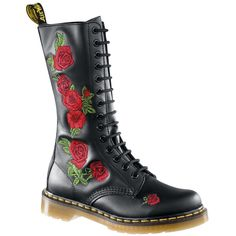 Dr. Martens - Vonda boots  Premium, embroidered boots by Dr. Martens, bootleg height: 25 cm and with air-cushioned sole.