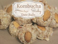 Kombucha Scoby Date Balls! These raw little bite sized treats are loaded with probiotic goodness! Just one great way to use up your extra Kombucha Scobys!  ~CulturedFoodLife