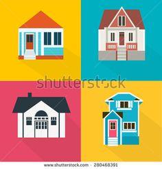 Vector House set, Family House - stock vector