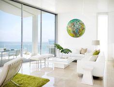 Avant Garde,Wall Clock Large, Glass art,Original abstract painting,Modern wall…