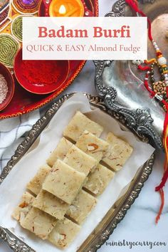Fail proof dessert with almond flour, this badam burfi is easy to make, needs 5 mins of cook time Quick Dessert Recipes, Quick Snacks, Sweet Desserts, Easy Desserts, Snack Recipes, Almond Flour Desserts, Almond Flour Recipes, Creamy Rice, Milk Cake