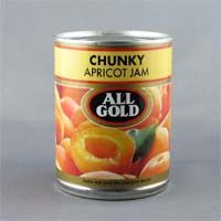 All Gold Chunky Apricot Jam contains gently picked Cape apricots, specially selected from the best of the orchard crop. From South Africa.