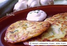 Cukkiniprósza My Recipes, Favorite Recipes, Potato Dishes, Cheeseburger Chowder, Pancakes, Side Dishes, Chicken, Vegetables, Breakfast