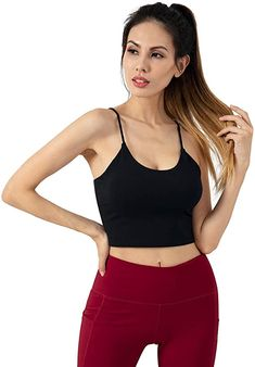 Bekleidung, Damen, Streetwear, Sportunterwäsche, Sport-BHs Cropped Tops, Crop Top Outfits, Yoga, Streetwear, Workout, Accessories Store, Clothing Accessories, Basic Tank Top, Camisole