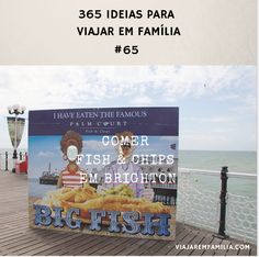 Comer fish & chips em Brighton