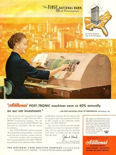 The rather large National Post-Tronic Bookkeeping Machine, 1959.