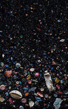 ocean trash are disturbing, yet enticing. trash animalsPhotos of ocean trash are disturbing, yet enticing. trash animals Photos of plastic in our oceans Artful Swirls of Plastic Marine Debris Documented in Images by Photographer Mandy Barker Ocean Pollution, Plastic Pollution, Art Plastic, Plastic In The Sea, Plastic Beach, Plastic Bottles, Collage Kunst, Wall Collage, Art Environnemental