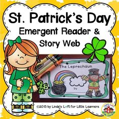 Reinforce concepts of print and sight word recognition with this eight page St. Patrick's Day Emergent Reader.  Story web printables are also included.