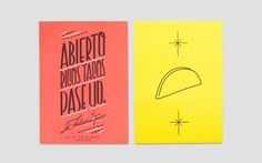 La Fábrica del Taco by Anagrama, via Behance