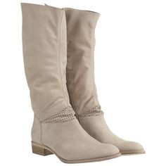 Mint Velvet Nubuck Cowboy Boots, Taupe ($230) ❤ liked on Polyvore featuring shoes, boots, zapatos, knee high cowboy boots, taupe knee high boots, knee high boots, cowgirl boots and western boots