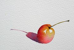 Ideas for fruit drawing art projects - Fruit - Obst Watercolor Fruit, Fruit Painting, Watercolor Sketch, Watercolor Illustration, Watercolor Flowers, Watercolor Paintings, Watercolors, Fruits Drawing, Step By Step Watercolor