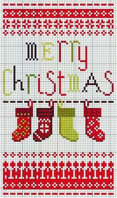 cross stitch Christmas stocking sampler