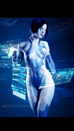#Cortana Art Halo #Cosplay