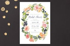 Watercolor Wreath by Yao Cheng at minted.com