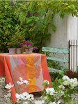 Le Jacquard Francais Fleurs Gourmandes Enduite Peach Wipe Off Tablecloths