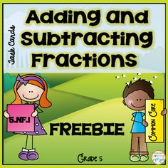Who does't love a FREEBIE? 24 Task Cards to practice addition and subtraction of fractions and mixed numbers with unlike denominators.