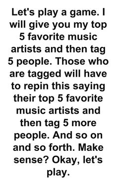 Imagine dragons, Taylor Swift, Ariana Grande, Pentatonix, Clean Bandit @Profangirl @iEmmaFangirl @annasmore @Tardis62 @emmashalee
