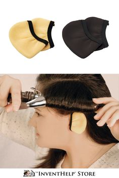 How many times have you burned your ears while styling your hair? Ear Cuffies cover the ear to prevent burns. Available at inventhelpstore.com.