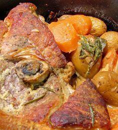 Rouelle de porc rôtie en robe de moutarde