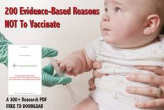 The evidence against vaccine safety and effectiveness is massive. Here is a 300  page research download of National Library of Medicine abstracts showing there are over 200 adverse effects of the vaccines in the CDC schedule, including death.