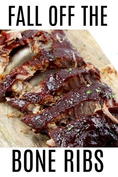 These Fall Off The Bone Ribs are a simple recipe that is baked low and slow in the oven creating a tender, juicy and flavorful bbq dinner. Fall Off The Bone Ribs Tornadough Alli Tornadough Alli These Fall Oven Pork Ribs, Baked Bbq Ribs, Ribs On Bbq, Ribs On Smoker, Ribs In The Crockpot, Beef Ribs Recipe Oven, Pork Spare Ribs Grilled, Best Ribs In Oven, Slow Cooked Oven Ribs