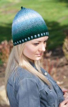 Pointilism Series Hats - Knitting Patterns by Deborah Tomasello