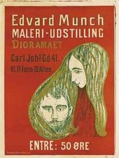Edvard Munch, Man's Head in Woman's Hair