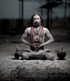 yogi in padmasana