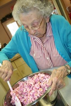 Seniors Assisted Living: Halloween Treats    Some of the ladies, joined in the fun of making popcorn balls this afternoon. In purple, blue and green...we have popcorn balls in so many fun colors for the trick-or-treaters tomorrow!  Thanks ladies for all of your hard work!