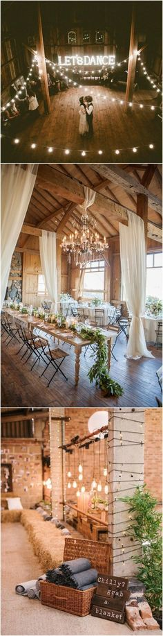 rustic barn wedding decoration ideas #WeddingIdeasCountry #ClassyWeddingIdeas