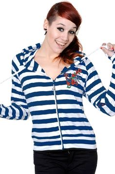 Banned Nautical Anchor Hoody #AttitudeClothingCo $35.86