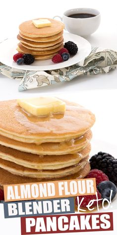 The BEST recipe IMO.Looking for the BEST keto pancakes? You've come to the right place. This easy almond flour pancake batter is made in your blender for the perfect consistency. Light and fluffy, and crispy on the outside. Makes great waffles too! Desserts Keto, Keto Friendly Desserts, Low Carb Breakfast, Breakfast Recipes, Breakfast Ideas, Health Breakfast, Breakfast Cereal, Breakfast Casserole, Breakfast Gravy