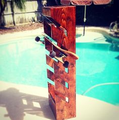 Skateboard Rack/Shelf by MelsBigRacks on Etsy